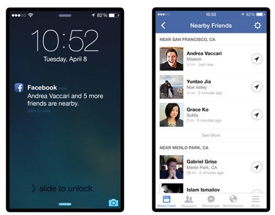 O Facebook agora diz-lhe os amigos que estão perto