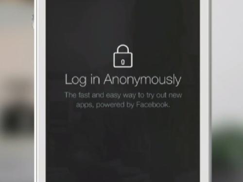 """Privacidade no Facebook melhorada com """"Login Anónimo"""""""