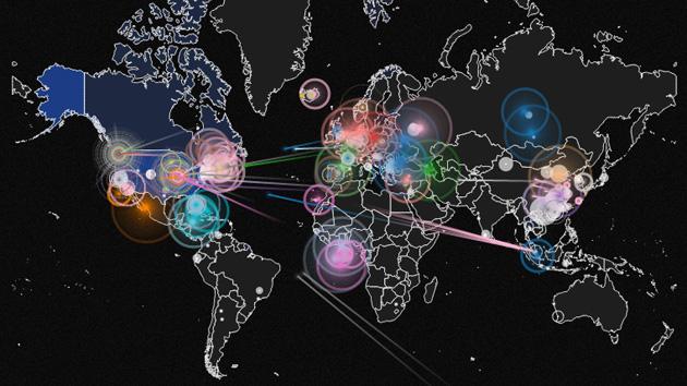 Sente-se e observe ataques de Hackers em tempo real por todo o mundo