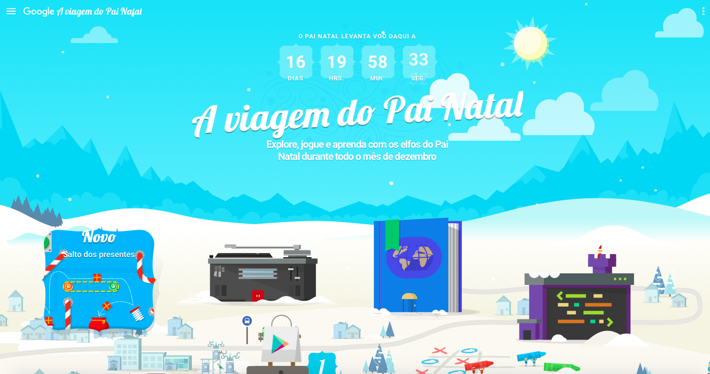 Jogos para passar o tempo até ao Natal? A Google lembrou-se de si!