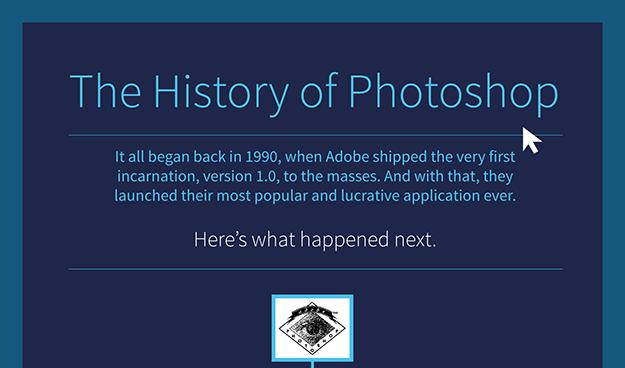 """Já conhece a história do """"Photoshop""""?"""