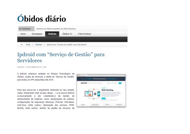 """A Ipdroid em artigo do """"obidosdiario.com"""""""